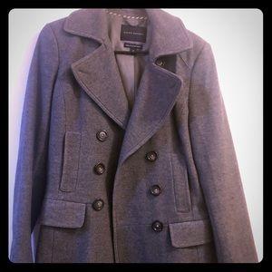 Grey banana republic pea coat